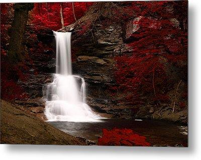 Sheldon Reynolds Waterfalls Metal Print by David Simons