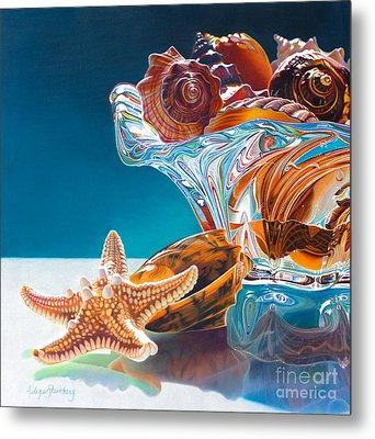 Shell Shocked Metal Print by Arlene Steinberg