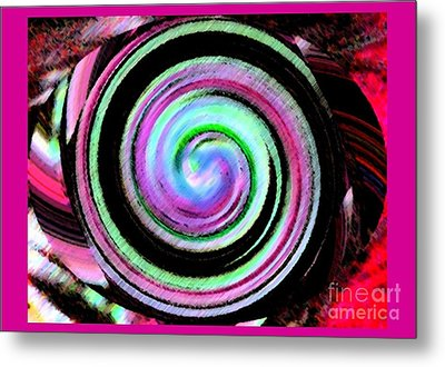 Shell Shocked Frame Metal Print by Catherine Lott