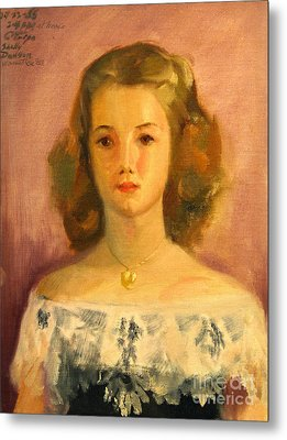 Shelley Metal Print by Art By Tolpo Collection