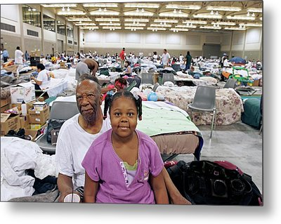 Shelter For Hurricane Katrina Survivors Metal Print by Jim West