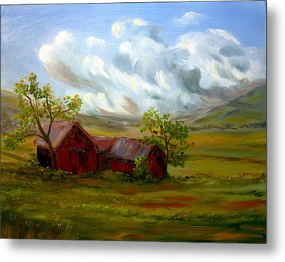 Shelter From The Storm Metal Print by Meaghan Troup