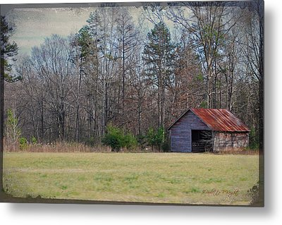 Shelter In The Midle Of Nowhere Metal Print by Paulette B Wright
