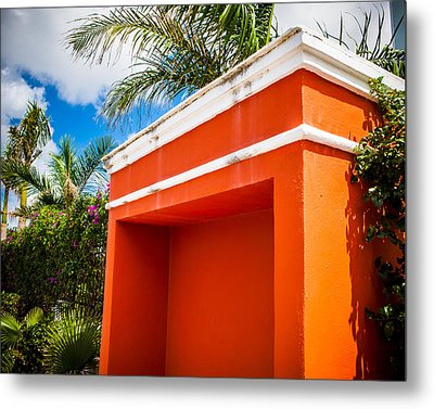 Shelter Orange Metal Print by Melinda Ledsome