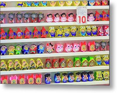 Shelves Of Children Toys, Shops Metal Print by Stuart Westmorland