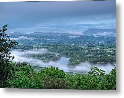 Shenandoah Evening Fog Metal Print