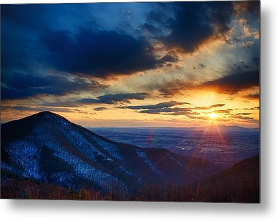 Shenandoah Sunset Metal Print by Joan Carroll