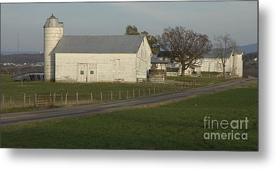 Shenandoah Valley Farm Panorama Metal Print by Anna Lisa Yoder