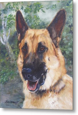 Metal Print featuring the painting Shep by Lori Brackett