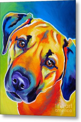 Rhodesian Ridgeback - Puppy Dog Eyes Metal Print by Alicia VanNoy Call