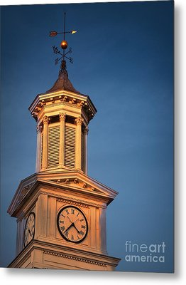 Shepherd University - Mcmurran Clock Tower At Twilight Metal Print by Julia Springer