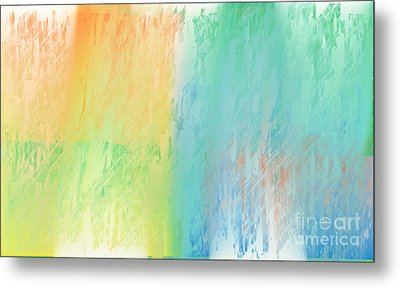 Sherbet Abstract Metal Print by Andee Design
