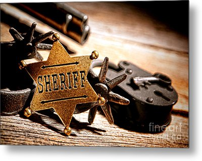 Sheriff Tools Metal Print by Olivier Le Queinec