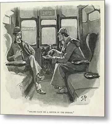 Sherlock Holmes And Dr. Watson Metal Print by British Library