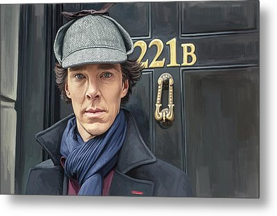 Metal Print featuring the painting Sherlock Holmes Artwork by Sheraz A