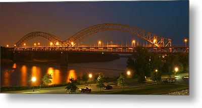 Sherman Minton Bridge - New Albany Metal Print by Mike McGlothlen
