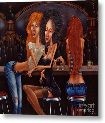 Sherry Chambord And Cognac -  Girls Night Out 1998 Metal Print