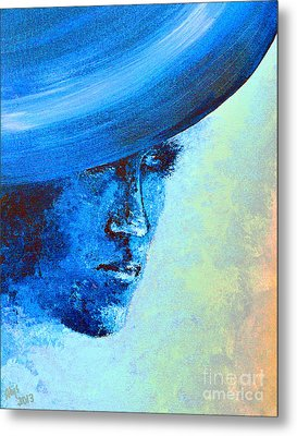 Shi Di Has The Blues Poster Metal Print by Alys Caviness-Gober