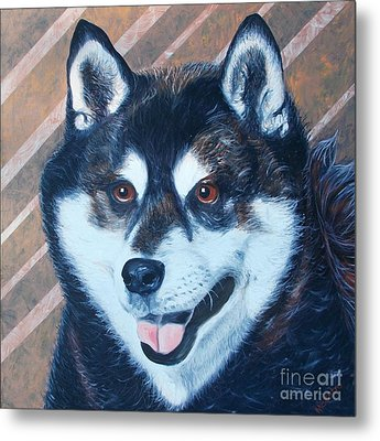 Metal Print featuring the painting Shiba Inu by PainterArtist FINs husband Maestro