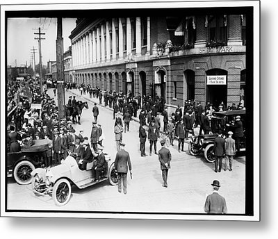 Shibe Park 1914 Metal Print by Bill Cannon