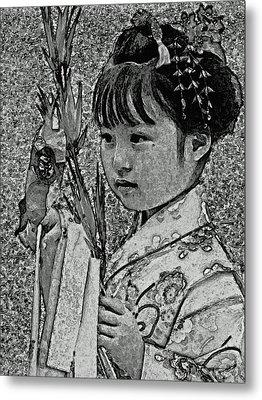 Shichi-go-san Girl Metal Print