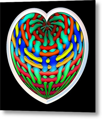 Shielded - Silver Metal Print by Wendy J St Christopher