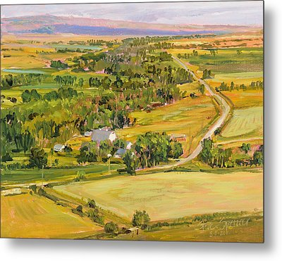 Metal Print featuring the painting Shields River Montana by Steve Spencer