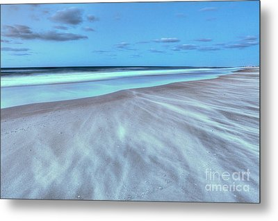 Shifting Sands On Frisco Beach Outer Banks I Metal Print by Dan Carmichael