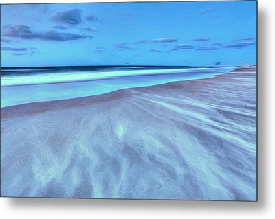Shifting Sands On Frisco Beach Outer Banks II Metal Print by Dan Carmichael