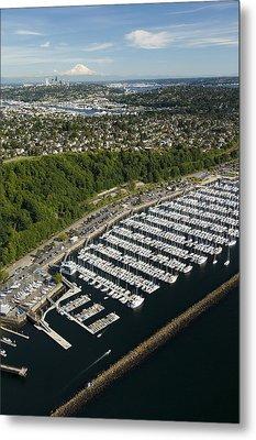 Shilshole Bay Marina On Puget Sound Metal Print by Andrew Buchanan/SLP