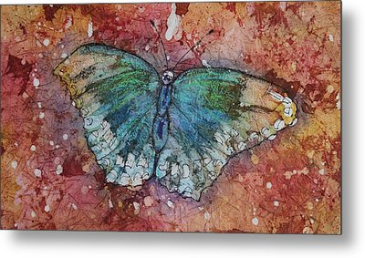 Shimmer Wings Metal Print