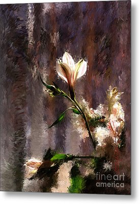 Shimmering Bouquet Metal Print