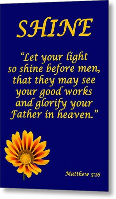 Shine Christian Poster Metal Print