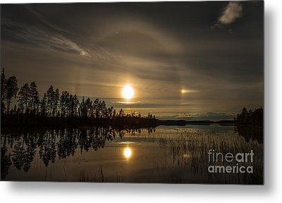 Metal Print featuring the photograph shine like a Halo by Rose-Maries Pictures