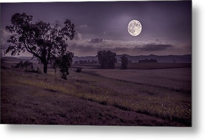 Metal Print featuring the photograph Shine On Harvest Moon by Jaki Miller