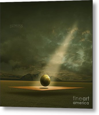 Metal Print featuring the painting Shining by Franziskus Pfleghart