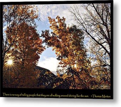 Shining Sun Metal Print by Bonnie Zieman