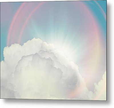 Shining Through Metal Print by Amy Tyler