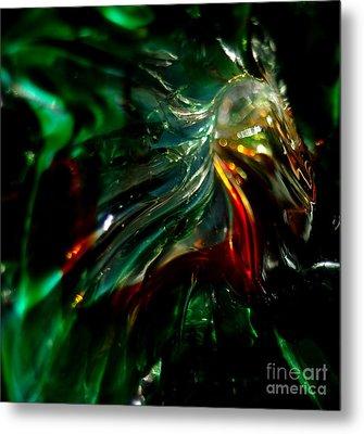 Shining Through The Glass Metal Print by Kitrina Arbuckle