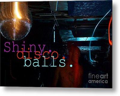 Shiny Disco Balls Metal Print by Corey Garcia