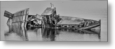 Metal Print featuring the photograph Ship Aground by Timothy Latta