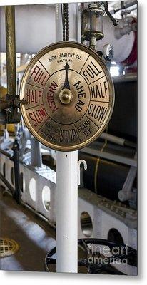 Ship Control Telegraph Metal Print by Steven Ralser