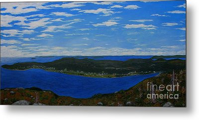 Ship Harbour From Sugarloaf Hill Metal Print by Barbara Griffin