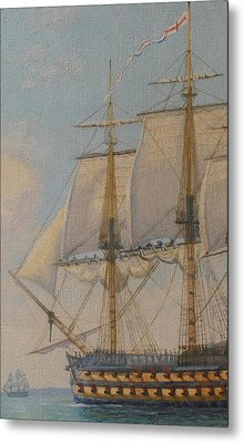 Ship-of-the-line Metal Print by Elaine Jones