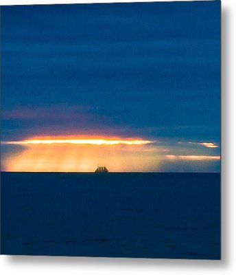 Ship On The Horizon Metal Print