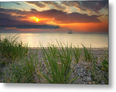 Ship Passing Through Metal Print by Darylann Leonard Photography