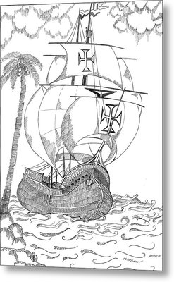 Ship Metal Print by Shruti Bhagwat
