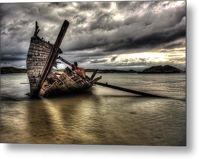 Ship Wreck Metal Print by Craig Brown