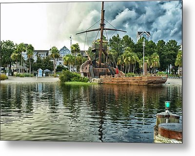 Ship Wrecked At The Disney Yacht And Beach Club Resort Metal Print by Thomas Woolworth