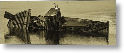 Metal Print featuring the photograph Ship Wrecked by Timothy Latta